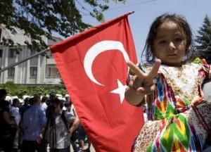 Uygurları Türk Büyükelçiliğini ziyaret resimleri ile ilgili görsel sonucu